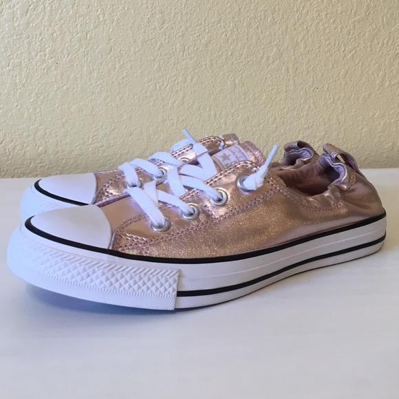 10c1c85cc592d8 Women s Converse Shoreline Rose Gold Sneakers